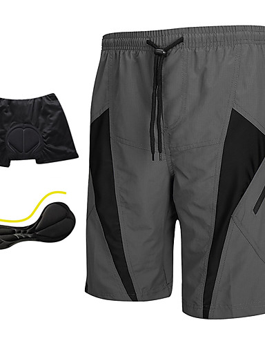 cheap Cycling-SANTIC Men's Cycling MTB Shorts - Grey Bike Shorts Padded Shorts / Chamois MTB Shorts, Breathable 3D Pad Quick Dry Polyester Spandex / Advanced Sewing Techniques