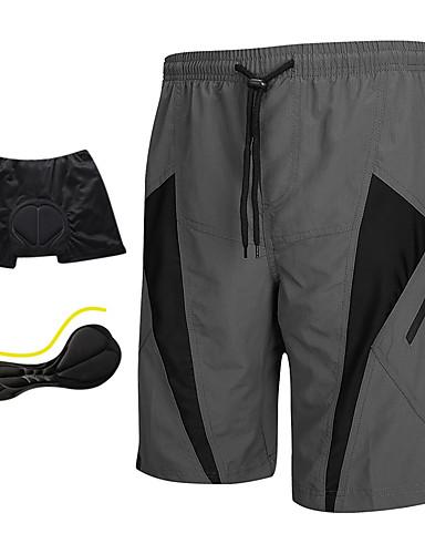 povoljno finalno sniženje-SANTIC Muškarci Biciklističke kratke hlače s jastučićima - Siva Kolaž Klasika Bicikl Kratke hlače Podstavljene kratke hlače Kratke hlače za MTB, Prozračnost Pad 3D Quick dry Poliester Spandex