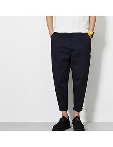 Herren Einfach Mittlere Hüfthöhe Mikro-elastisch Kurze Hosen Lose Hose Solide