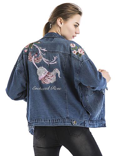 veste en jean femme imprim vacances sortie d contract quotidien r tro chic de rue