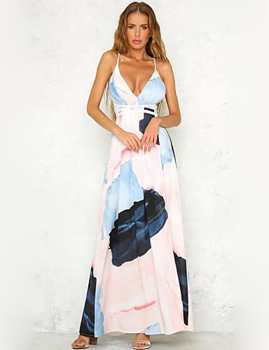 3e117a2545 Damskie Impreza Plaża Boho Moda miejska Sukienka swingowa Maxi Sukienka