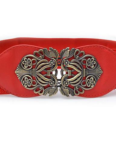 حزام عريض أخرى أسود أحمر جمل آرت ديكو / ريترو للمرأة