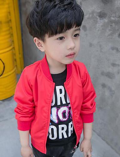 Jungen Solide Jacke & Mantel Rote