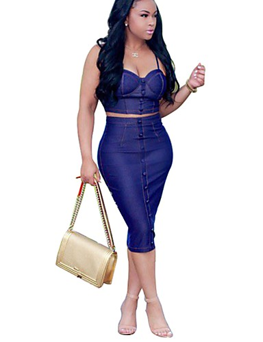 Damen Kurz Tank Tops - Solide, Ringer-Rücken-Kleid Gurt Rock