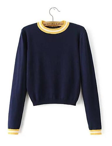 Damen Langarm Pullover-Gestreift
