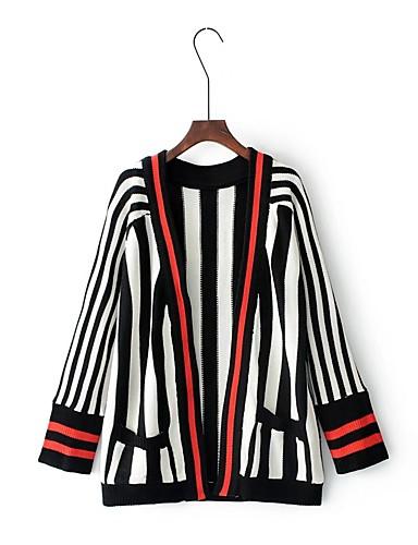 Damen Solide Einfarbig Einfach Freizeit Sport Ausgehen Standard Jacke, V-Ausschnitt Frühling Herbst Andere Bestickt