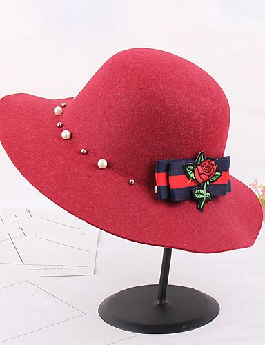 قبعة الدلو قبعة فيدورا طباعة فصل الخريف شتاء Vicose قبعة زهر نساء زهري