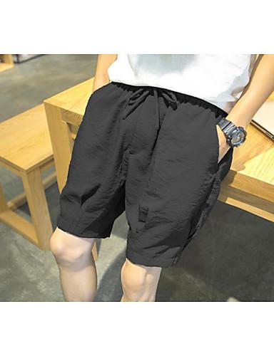 Herren Aktiv Mittlere Hüfthöhe Mikro-elastisch Kurze Hosen Lose Hose Solide