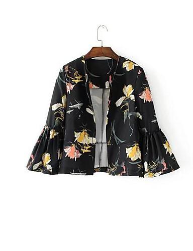 Damen Solide Einfach Lässig/Alltäglich Blazer,Hemdkragen Frühling Herbst Ärmellos Standard Andere