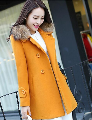 Damen Solide Einfach Freizeit Alltag Lang Mantel,Kapuze Winter Baumwolle Acryl Polyester