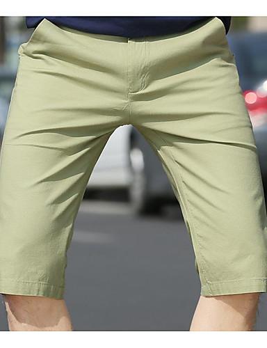 Herrn Street Schick Gerade / Kurze Hosen Hose Solide