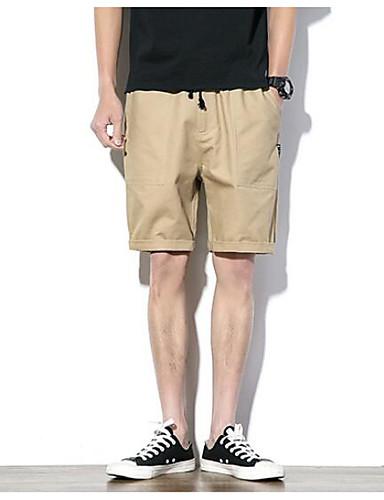 Herren Einfach Mittlere Hüfthöhe Mikro-elastisch Chinos Kurze Hosen Lose Hose Solide