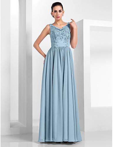 povoljno Haljine za svatove-A-kroj Ilujska deklinacija Do poda Šifon / Til Haljina s Aplikacije po TS Couture®