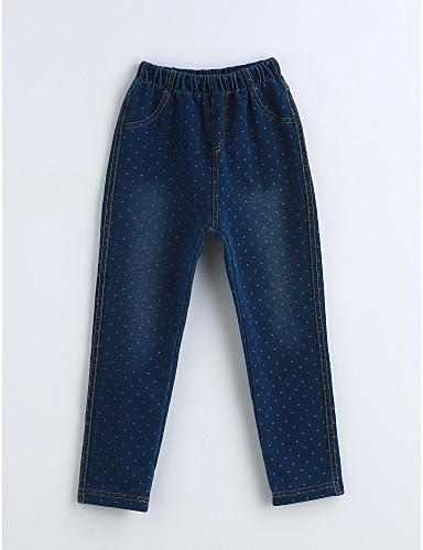Mädchen Jeans Solide Baumwolle Frühling Herbst Blau