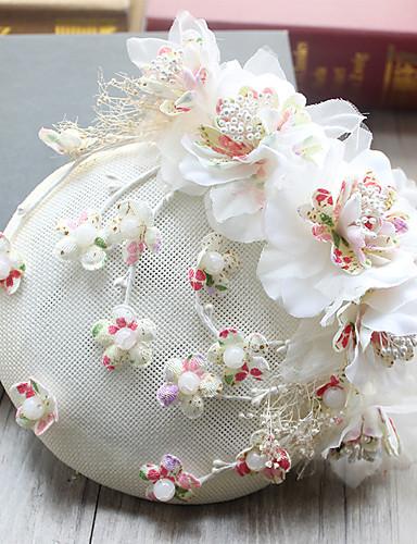 abordables Chapeau & coiffure-Tulle / Mousseline de soie / Tissu Fascinators / Chapeaux / Pince à cheveux avec 1 Mariage / Occasion spéciale / Anniversaire Casque