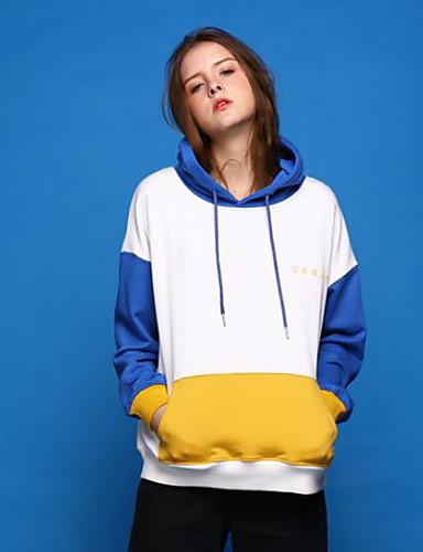 Damen Kapuzenshirt Sport Ausgehen Einfarbig Mikro-elastisch Andere Lange Ärmel Frühling Herbst