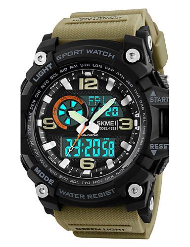 1618f6c88579 SKMEI Hombre Reloj Deportivo Reloj Militar Reloj de Pulsera Japonés Digital  Cuero Sintético Acolchado Negro   Verde   Caqui 50 m Resistente al Agua ...