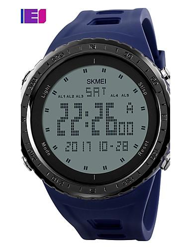 SKMEI Men's Sport Watch Digital Watch Digital Casual Watch PU Band Digital Charm Black / Blue / Green - Gray Green Blue Two Years Battery Life / Maxell CR2025