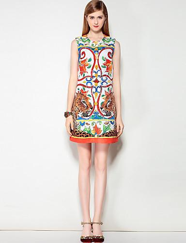 Mary Yan & Yu Women's Street chic A Line Dress - Floral / Leopard
