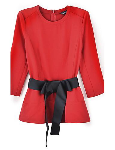 billige Topper til damer-T-skjorte Dame - Ensfarget, Sløyfe Vintage / Gatemote Ut på byen