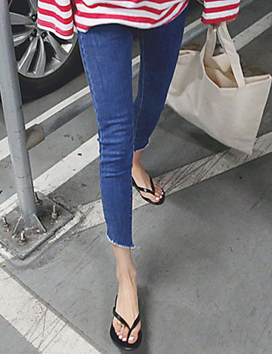 Women's Skinny Pants - Solid Colored High Rise