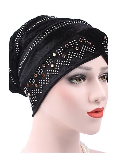 Női Tiszta szín Nyomtatott Pamut Széles karimájú kalap