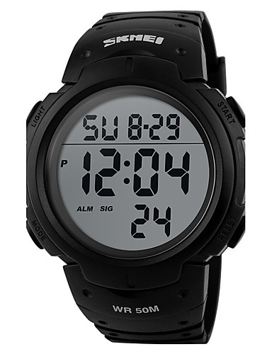 Men's / Women's Sport Watch / Military Watch / Smartwatch Chinese Alarm / Calendar / date / day / Chronograph Silicone Band Charm / Luxury / Casual Black / Water Resistant / Water Proof / LCD