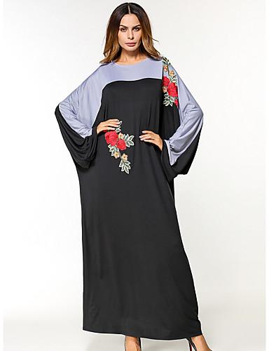 42525ba7a574 Γυναικεία Μανίκι Νυχτερίδα Καφτάνι Φόρεμα - Κέντημα Μακρύ 6307727 ...