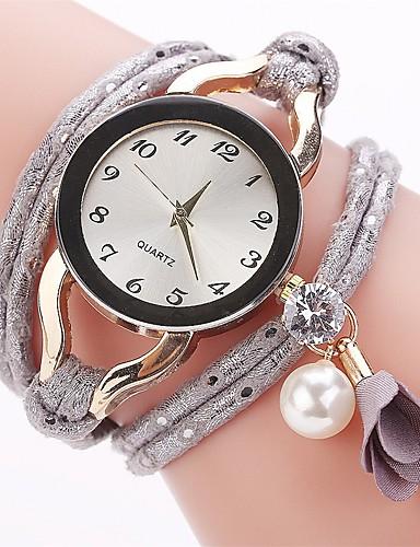 Women's Bracelet Watch / Simulated Diamond Watch Chinese Imitation Diamond PU Band Charm / Casual / Fashion Black / Blue / Red