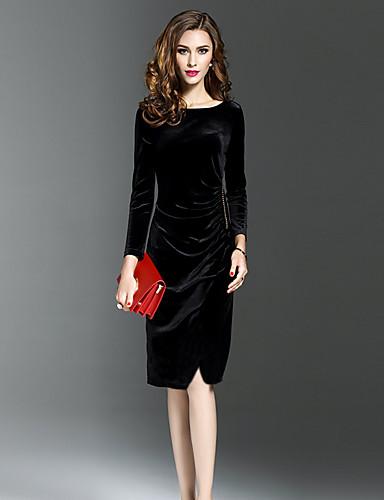 044570cc4 فستان نسائي قياس كبير ثوب ضيق مخمل طول الركبة لون سادة مناسب للخارج