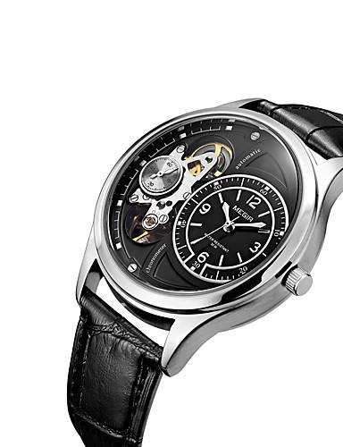 MEGIR Męskie Nakręcanie automatyczne Zegarek na nadgarstek Gorąca wyprzedaż Skóra Pasmo Na co dzień Do sukni / garnituru Modny Nowoczesne