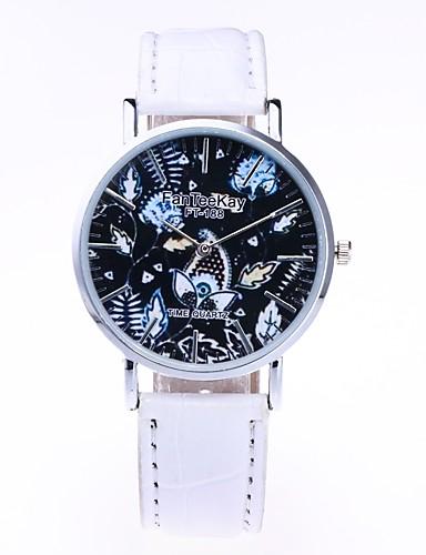 Męskie Damskie Kwarcowy Zegarek na nadgarstek Chiński Gorąca wyprzedaż PU Pasmo Na co dzień Czarny Biały Brązowy