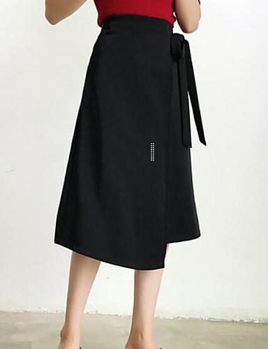 Damen Asymmetrisch Röcke Rock