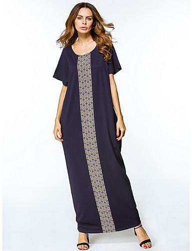 Damen Tunika Kleid Galaxis Maxi