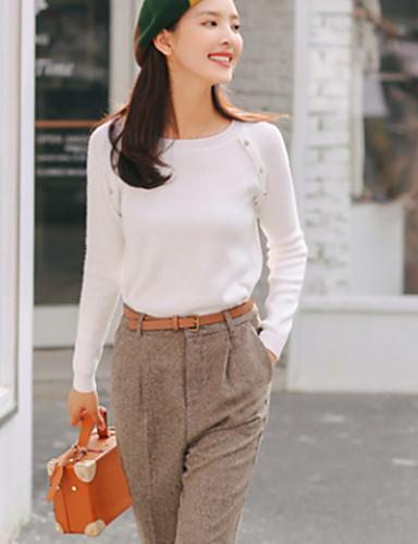 Damen Freizeit Langarm Pullover - Solide