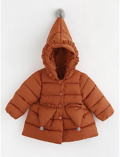Odzież puchowa / pikowana Bawełna Dla dziewczynek Jendolity kolor Długi rękaw Brown
