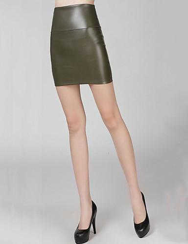 Damskie Spódnica Spódnice - Praca Jendolity kolor Modny Sexy, Sexy