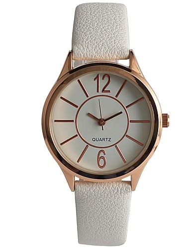 Damskie Kwarcowy Zegarek na nadgarstek Japoński Na codzień PU Pasmo Na co dzień Modny Biały