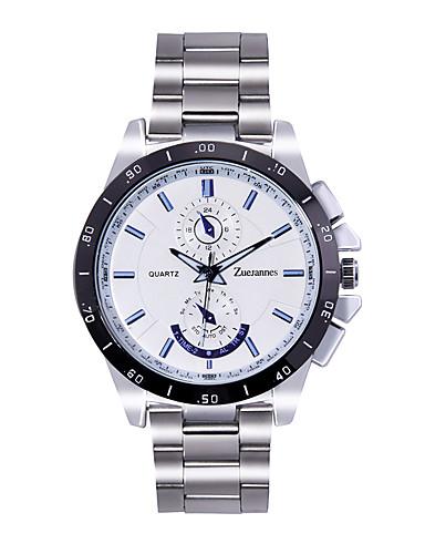 Herrn Armbanduhren für den Alltag Japanisch Quartz Kalender Wasserdicht Edelstahl Band Freizeit