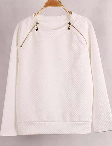 Damen Pullover Lässig/Alltäglich Solide Polyester