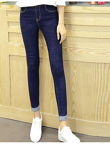 Damen Hose Jeans Hose Solide / Ausgehen