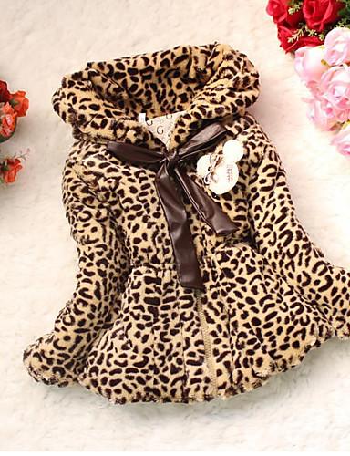 Odzież puchowa / pikowana Bawełna Dla dziewczynek Cętki Długi rękaw Khaki
