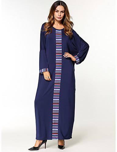 Damen Tunika Kleid Einfarbig Maxi