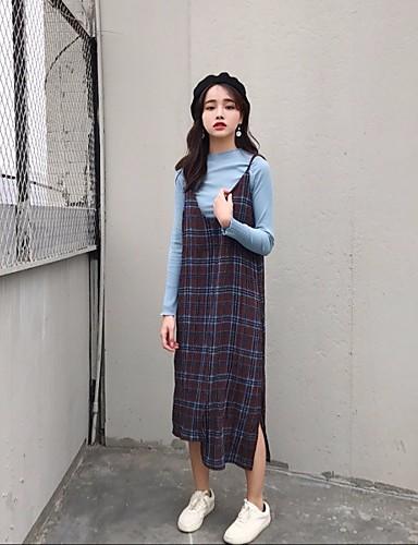 Damen Etuikleid Kleid-Klub Sexy Solide Gurt Midi Langarm Wolle Mittlere Hüfthöhe Mikro-elastisch Dick