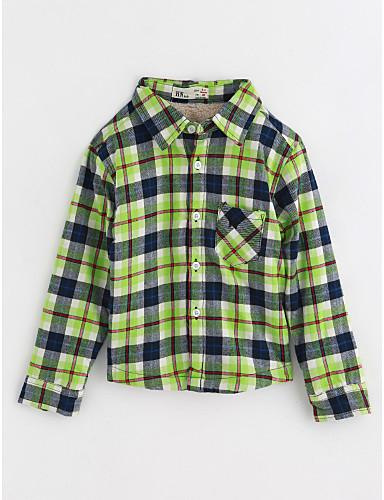 Jungen Hemd Baumwolle Herbst Langarm