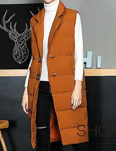 Damen Gefüttert Mantel Niedlich Aktiv Ausgehen Lässig/Alltäglich Solide-Polyester Ärmellos