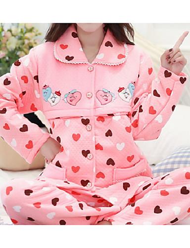 Damen Baumwolle Anzüge Pyjamas Herz