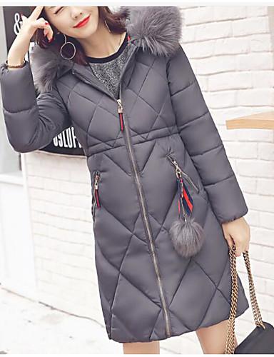 Damen Gefüttert Mantel Niedlich Street Schick Ausgehen Solide-Polyester Langarm