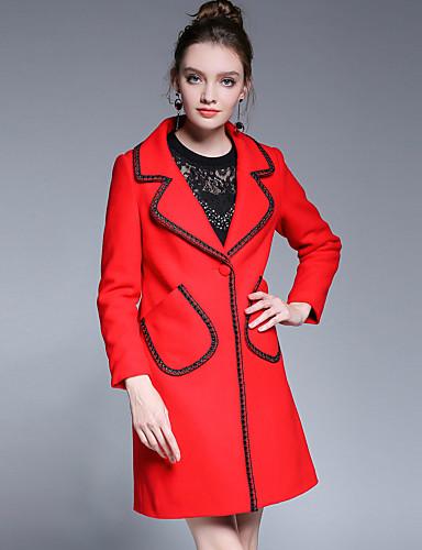 Płaszcz Rozmiar plus Damskie Wyrafinowany styl Moda miejska Wielokolorowa Akryl Poliester