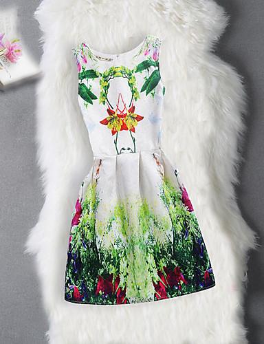 Mädchen Kleid Geburtstag Ausgehen Blumen Bäume/Blätter Jacquard Baumwolle Polyester Ärmellos